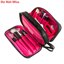 2017 New Cosmetic Bag Women Cosmetic Makeup Bag Brush Case Black Waterproof Professional Travel Organizer Make