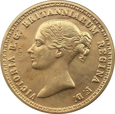 Британская Витория 24-к Позолоченные копия монет coper производство