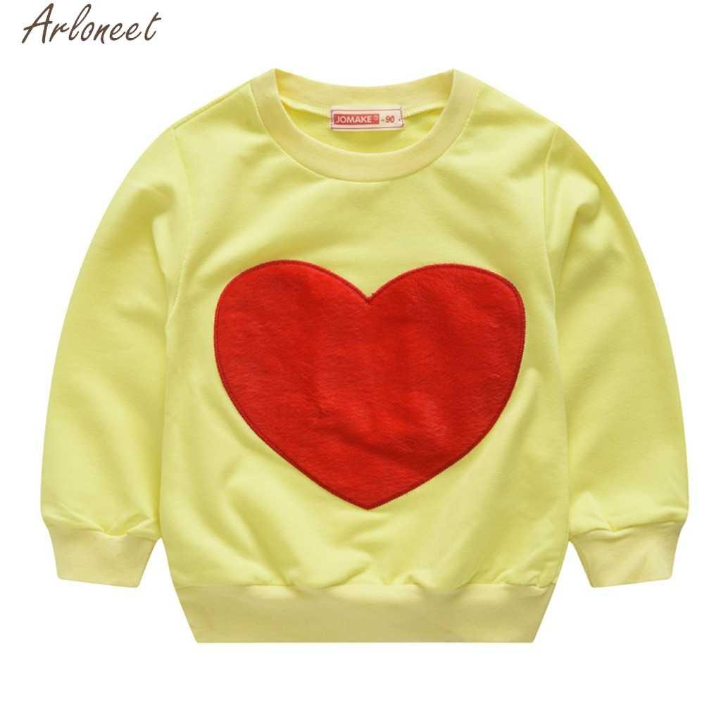 ARLONEET/худи для маленьких мальчиков и девочек, топы с сердечками, толстовки для девочек, милые толстовки для маленьких девочек, худи для мальчиков