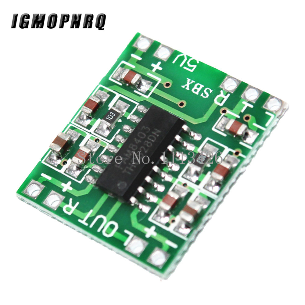 10Pcs <font><b>2x3W</b></font> Dual Channel Mini Digital Power <font><b>Amplifier</b></font> Board PAM8403 Class D Stereo Audio <font><b>Amplifier</b></font> Module 5V Power image