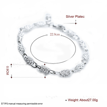 New Silver color Jewelry Hollow Out Bead Bracelet 1