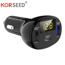 KORSEED USB TYPE C Car Charger For Mobile Phone iPhone X 8 MAX 7 Xiaomi Samsung