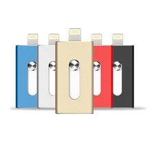 Usb флэш-накопитель для iPhone 6, 6 плюс 5 5S ipad металлическая ручка привода HD Memory Stick двойного назначения мобильного OTG Micro 32 ГБ 64 ГБ флешки