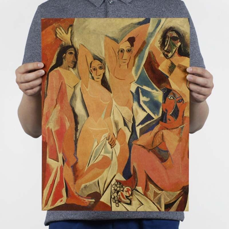 Ностальгия и ретро картина маслом ретро постер винтажный плакаты живопись Ретро плакат, крафт-бумага кафе домашний декор наклейка на стену - Цвет: 108