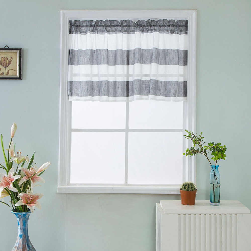 Hot Sale Valance Curtains Home Bedroom Window Extra Wide And Short