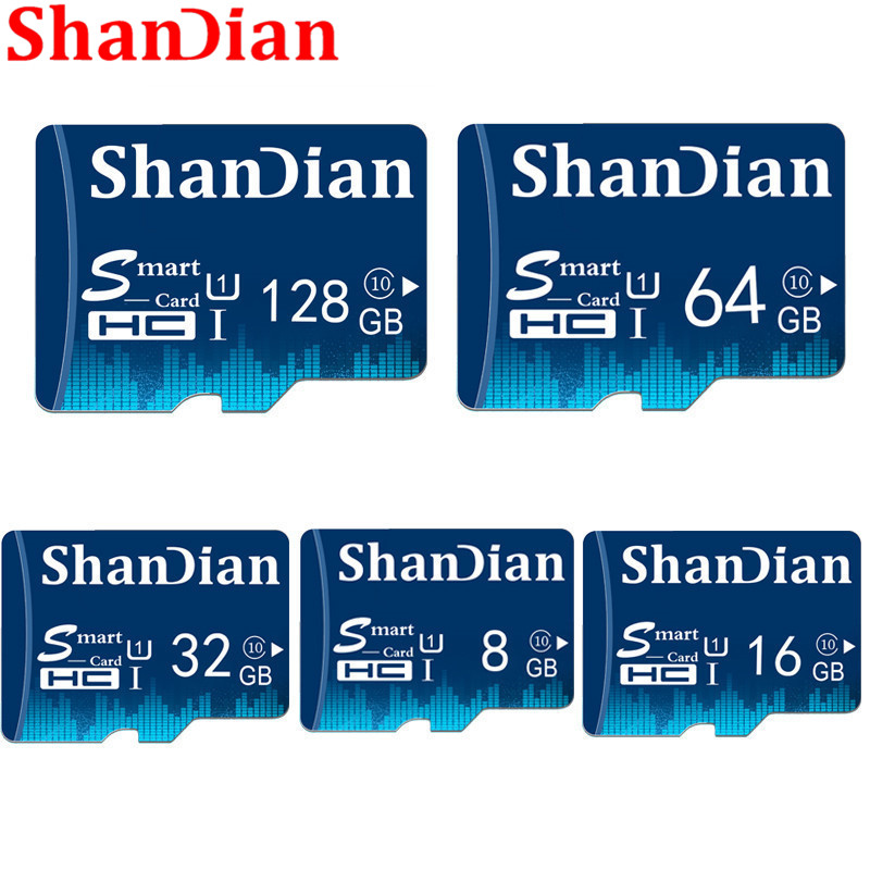 ShanDian New Micro Sd Card 32GB 64GB 128GB Class10 Microsd TF Card 16GB 8GB TF Memory Card External Disk For Smart Phone Camera