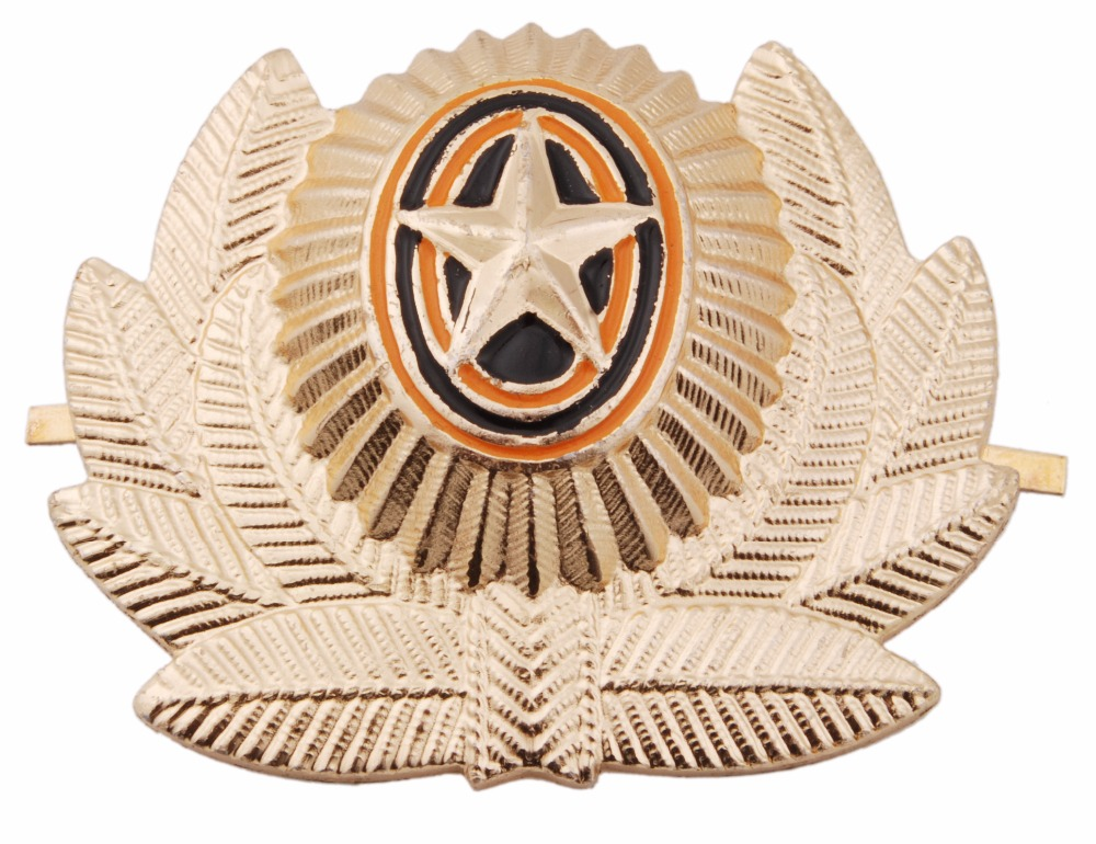 SOVIET ARMY USSR RUSSIAN MILITARY METAL CAP HAT BADGE COCKADE