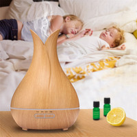 NEW 400ml Aromatherapy Essential Oil Diffuser Ultrasonic Humidifier Home Office Ultrasound Bedroom Living Room Study Yoga
