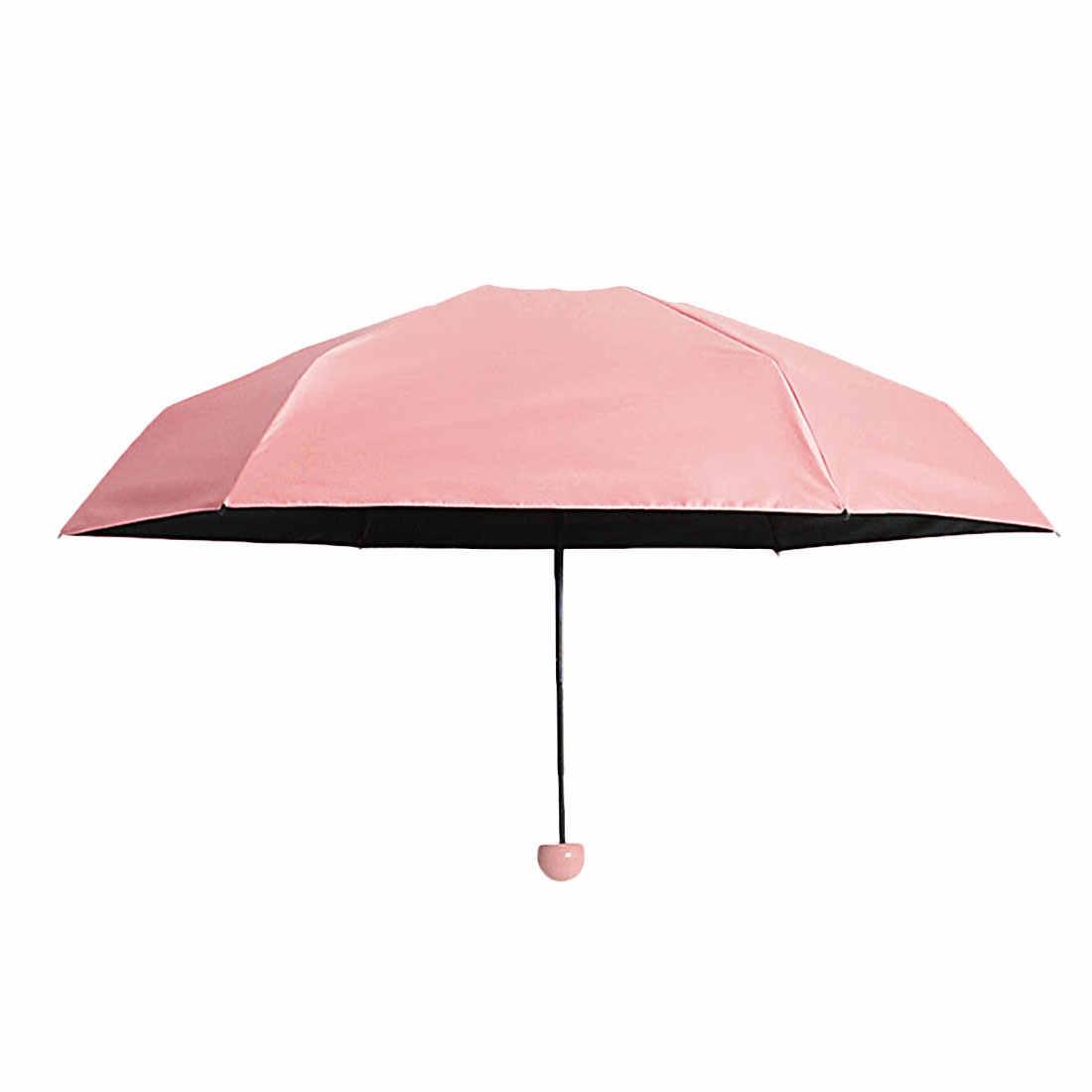 Мини карманный зонтик-капсула для женщин, анти-УФ Зонты, дождь для женщин, водонепроницаемый мужской солнцезащитный зонтик, удобный для девочек, дорожные Зонты