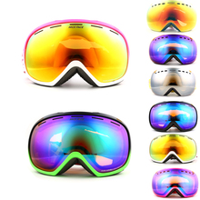 New 2016 Brand ski goggles 2 double lens UV400 anti fog large spherical font b glasses