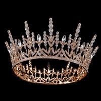 2018 New Gold Bridal Tiaras Crowns Full Crystal Rhinestone Wedding Hair Crown for Women Bride Hair Jewelry Accessories Headpiece