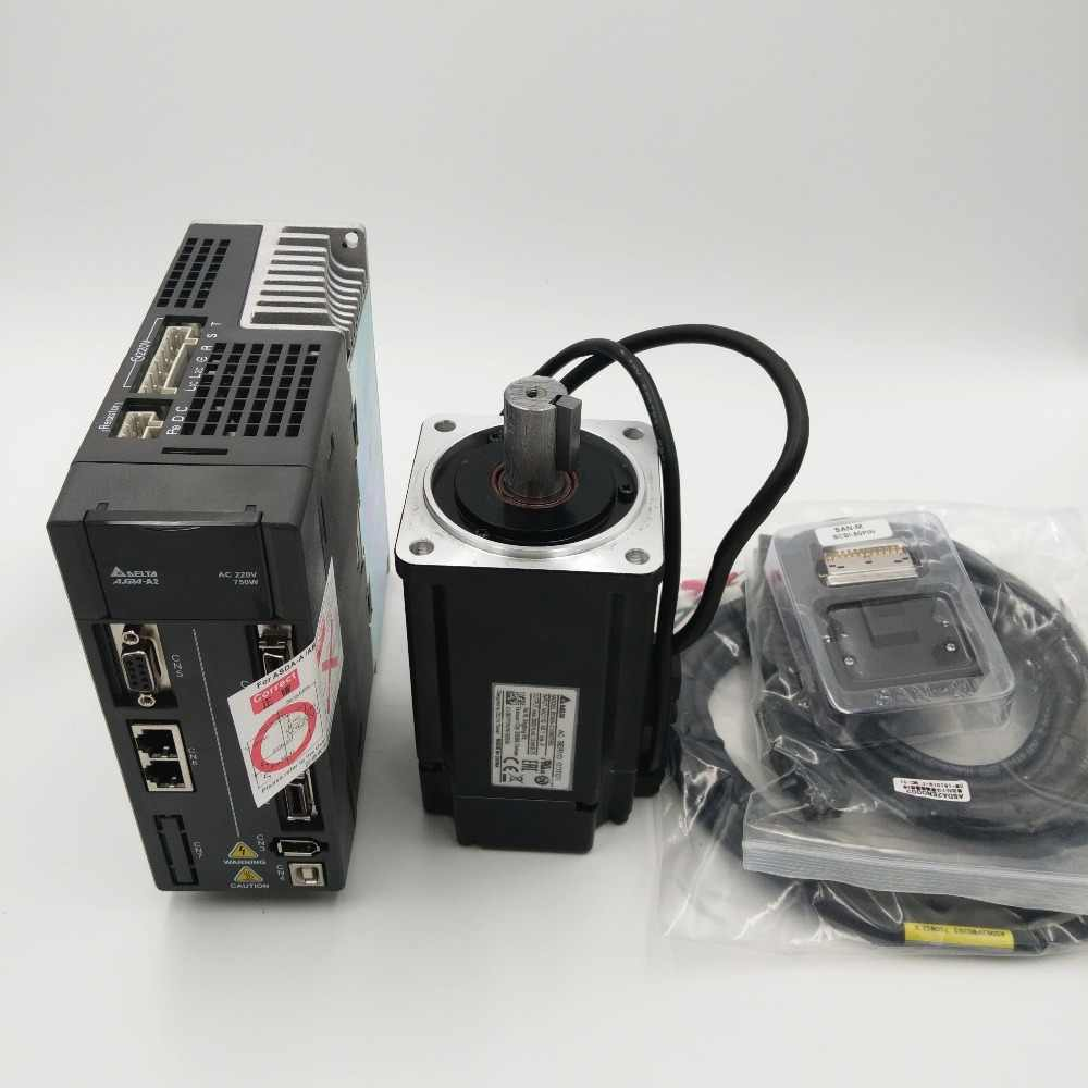 Cnc 750ワットacサーボモータドライブキットデルタ220ボルトサーボシステム2.39NM 5.1a 80ミリメートルで3メートルケーブルECMA-C10807RS + asd-a2-0721-l