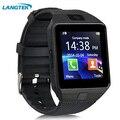 Langtek bluetooth smart watch g1 com câmera facebook sms sync mp3 smartwatch sim apoio tf cartão para ios android phone relógio