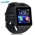 Langtek bluetooth smart watch g1 con cámara facebook sync sms tarjeta sim apoyo tf mp3 smartwatch para android ios teléfono reloj