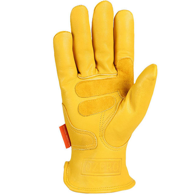 Motorcycle Gloves, Genuine Sheepskin Mens Gloves