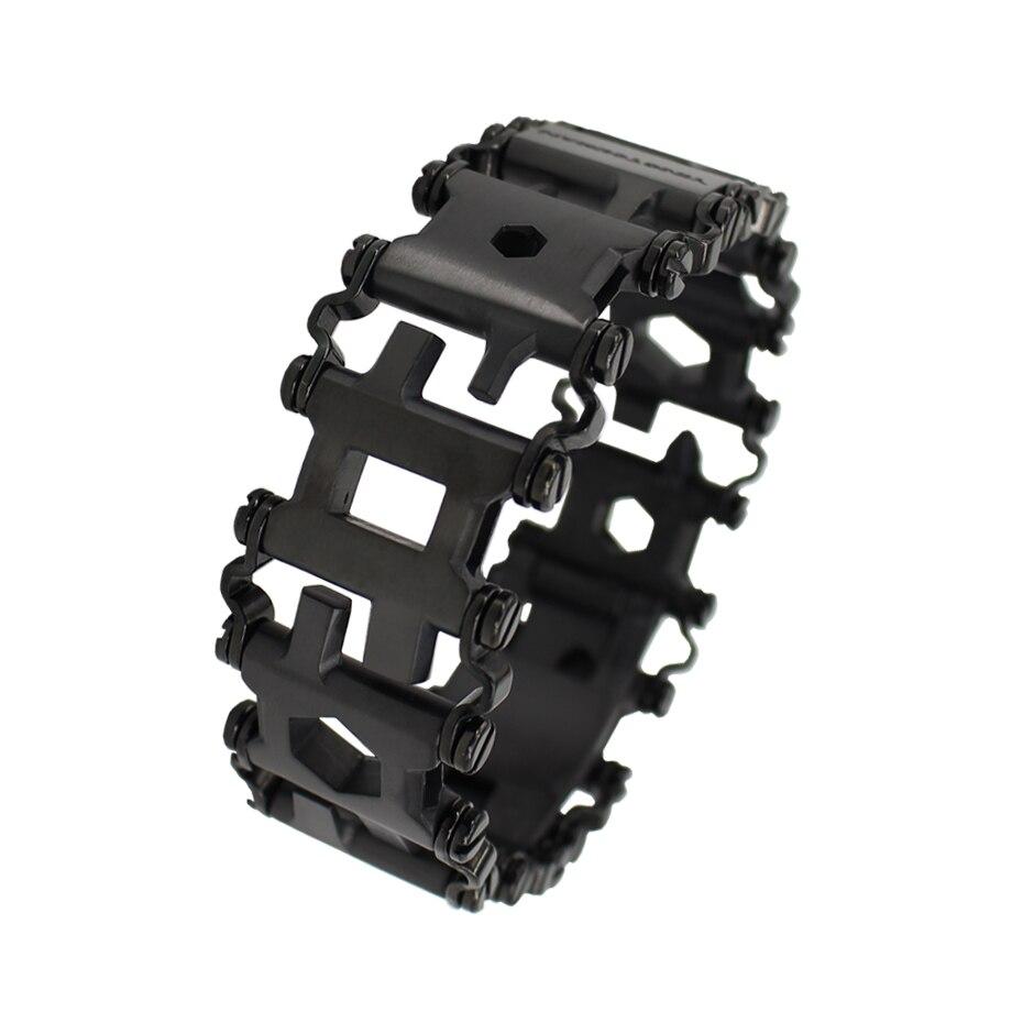 YINGTOUMAN Men & Women Bracelets Stainless Steel Bracelet Link Design Multi Function Hiking Camping Survival Outdoor EDC Tools