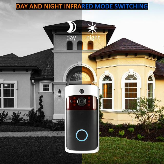 Smart Wireless WiFi Security DoorBell Visual Recording Consumption Remote Home Monitoring Night Vision Smart Video Door Phone 4
