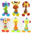 baby early educational toys Newborn Rattles Baby Toys stuffed animal plush Toy baby teether rattles Safety car hanging strollers