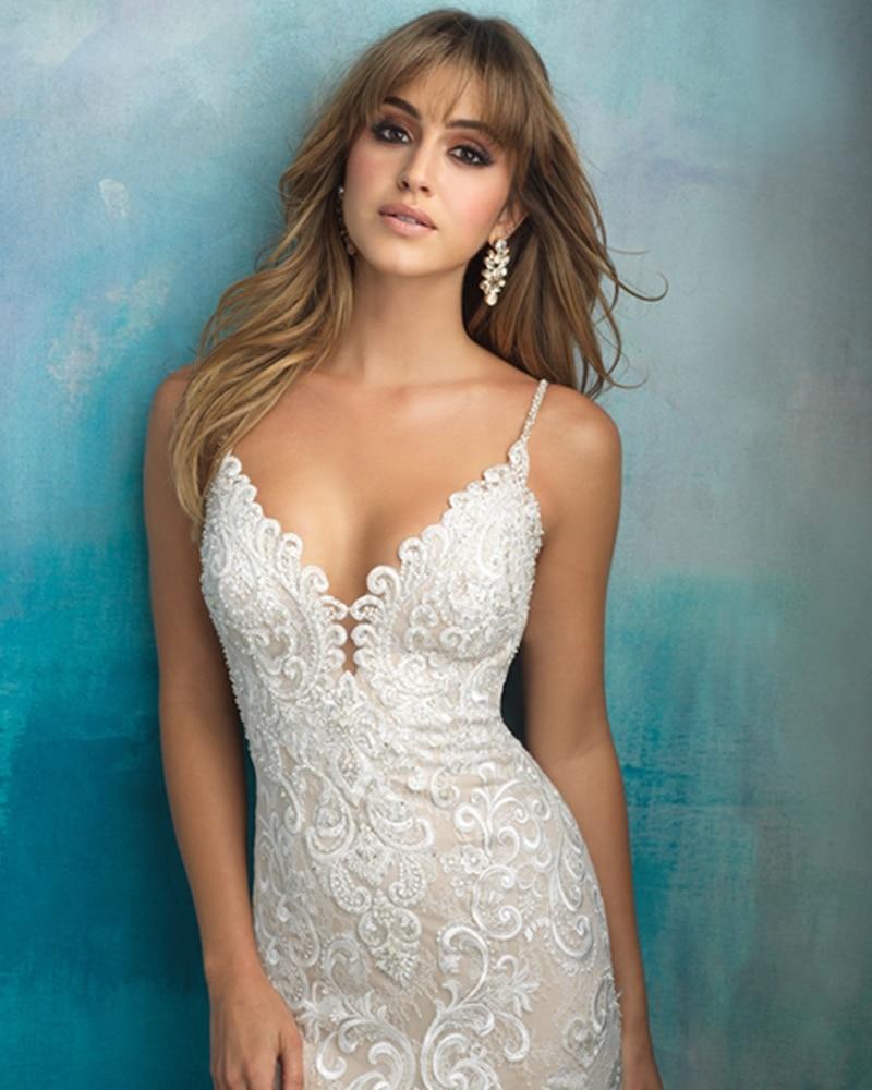 Spaghetti Strap Backless Mermaid Wedding Dresses