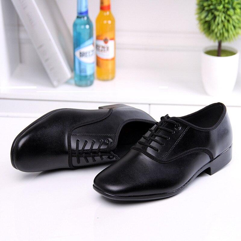 Nouveaux hommes Base souple augmente les chaussures de danse Jazz moderne en cuir chaussures de danse haute chaussures femme danse Salsa chaussures