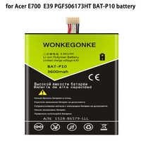 WONKEGONKE BAT-P10 per Acer Liquid E700 per Triple E39 PGF506173HT batteria Batterie