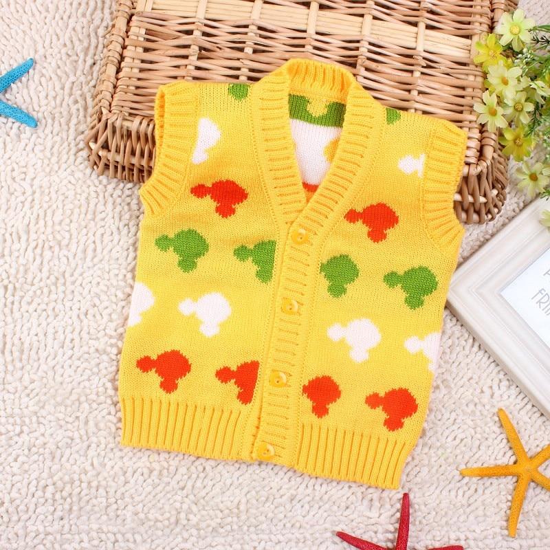 Spædbørn jakker og jakker vinter baby dreng pige knitted hæklet vest blødt veste pels pige cardigan varm vest nyfødt tøj