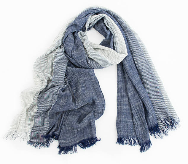 Winter Scarf Tassel Wrinkled Bufandas Woven Gray Plaid Warm Soft Cotton Brand Wholesale