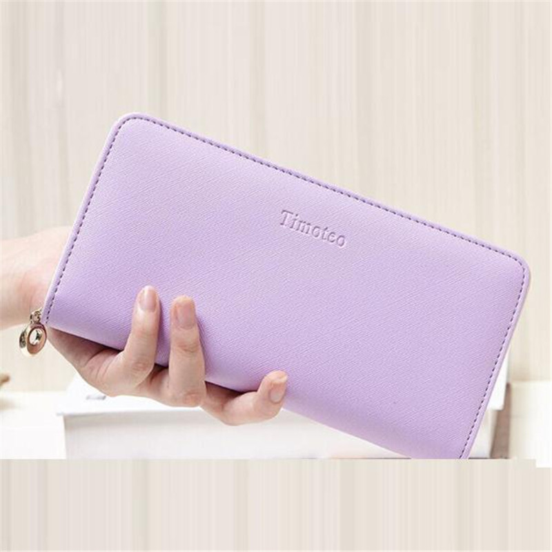 Hot sale Clutches Wallets for Women PU Leather Purse Female Long Purse Wallet Candy Color portefeuille femme Women's Money Bag
