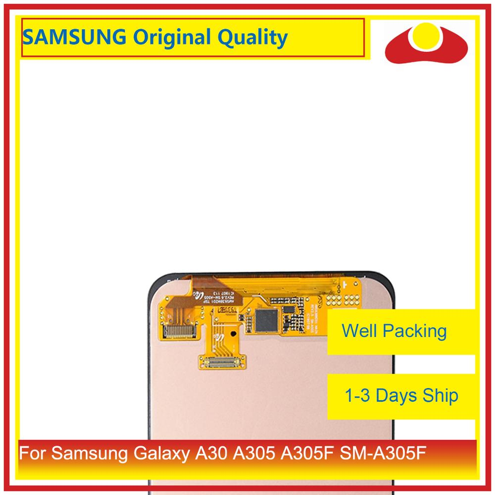 Image 2 - 10Pcs/lot Original For Samsung Galaxy A30 A305 A305F SM A305F LCD Display With Touch Screen Digitizer Panel Pantalla Complete-in Mobile Phone LCD Screens from Cellphones & Telecommunications
