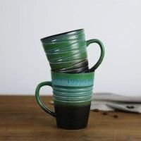 2017 Luxo Retro Fosco xícara de leite xícara de cerâmica caneca de Café copo de Cerveja chá copos Casais lhe dar seu presente Do feriado do Natal 11 OZ canecas
