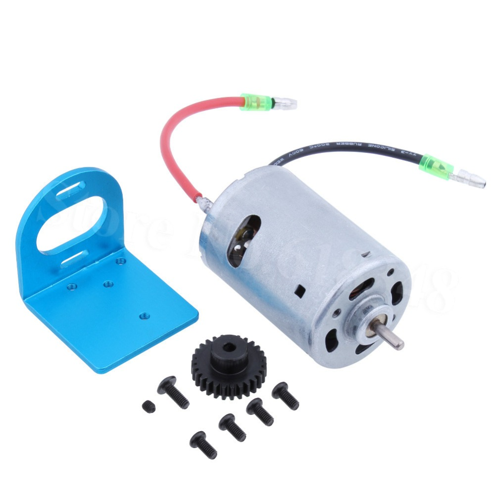 540 Motor Kit & Mount Electric Engine Metal Gear 27T For 1/18 WLtoys A959 Upgrade Parts Fit A949 A969 A979 K929