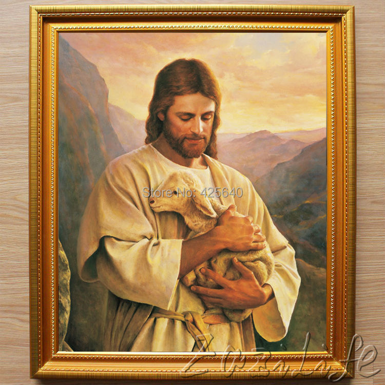 home decor jesus christ the good shepherd wall art pictures canvas painting giclee art posters and