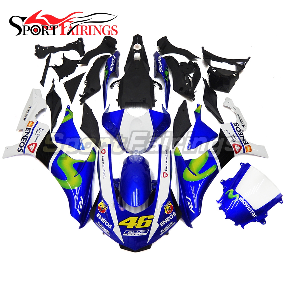 ENEOS 46 Blue Injection Fairings For Yamaha YZF R1 2015 2016 Complete ABS Plastic Motorcycle Fairing Kit Body Kits Bodyworks New motorcycle fairings for yamaha yzf r1000 yzf r1 yzf 1000 r1 2015 2016 2017 yzf1000 abs plastic injection fairing bodywork kit