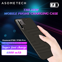 6800 2800mah のバッテリー銀行 powerbank 独立した超薄型携帯電話のカバーバッテリー充電器ケース huawei 社 P30 プロ