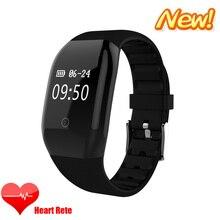 Новые ID608HR Смарт Браслет Bluetooth 4.0 мониторинга сердечного ритма шагомер Фитнес трекер вызов/сообщение напоминание браслет