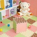 Promoción estilo pastoral juego mat estera del piso del bebé de espuma EVA rompecabezas de dibujos animados niño tapetes patchwork EDJW001