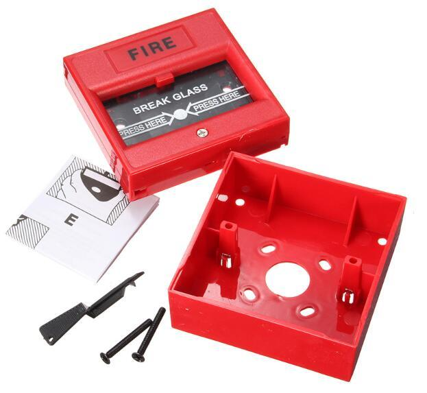 High Quality Plastic Break Glass Emergency Exit Escape Life saving Switch Button Fire Alarm Home Safely Security Red