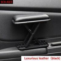 Genuine Leather Car Left Hand Armrest Pad Holder For Alfa Romeo 159 147 156 166 GT Mito Acura MDX RDX TSX Fiat 500 Punto Stilo