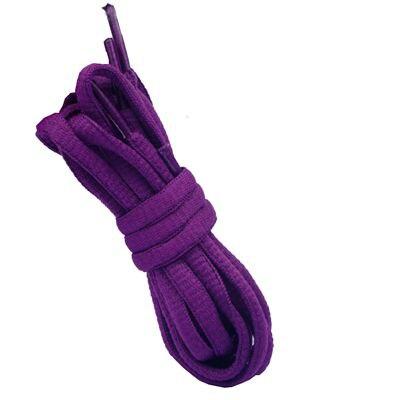 """180 см/7"""" длинный овальный плоской подошве Кружево Шнурки обуви Кружево F. спортивная обувь 24 Цвета для выбора нового - Цвет: No 9 purple"""