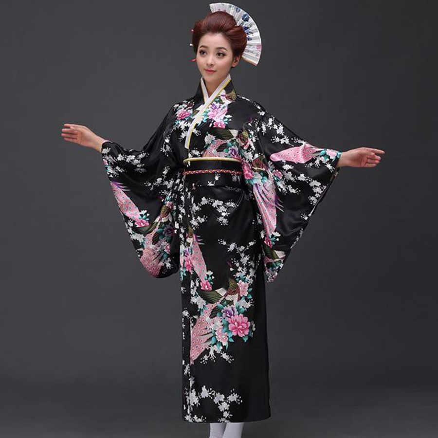 Модные национальные тренды, женское сексуальное кимоно юката с Obi, новинка, вечернее платье, японский карнавальный костюм, Цветочный, один размер