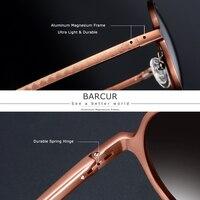 BARCUR - Retro Round Sunglasses 1