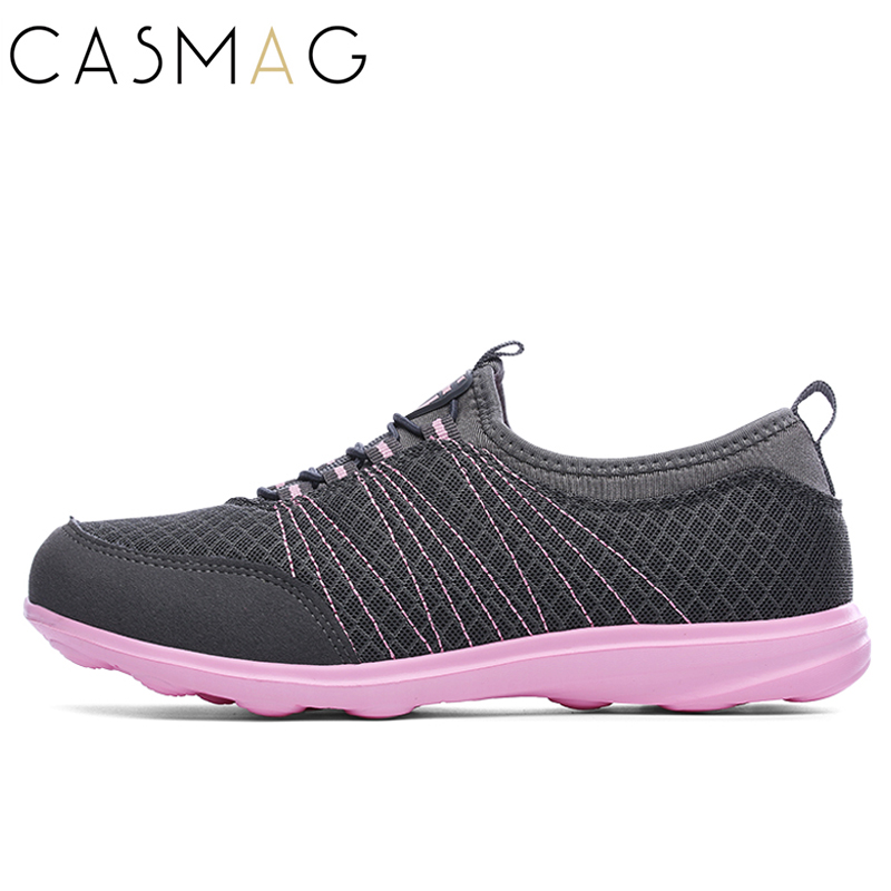 CASMAG Womens Running Shoes Walking Sport Outdoor Slip On Breathable Sneakers Light Weig ...