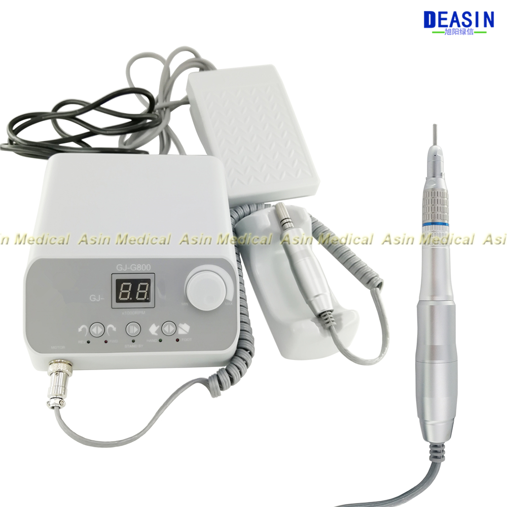 NEW 50 000 RPM Brushless Dental Micromotor Polishing Unit with straight handnpiece dental micro motor FREE