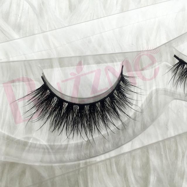 Frete grátis luxo 100% real do vison cílios tira mink siberian cílios falso 3D