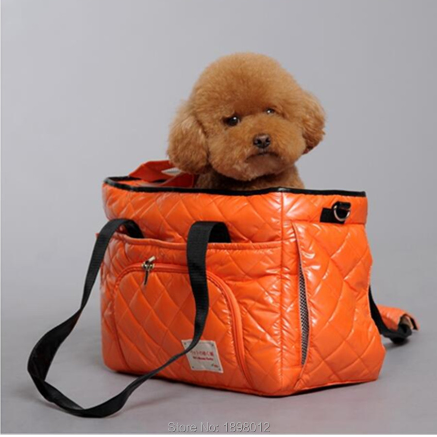 Portable Pet Carrier Bag For Carrying Dog Cat Small Animals Travel Carry Hand Bag Nylon Dog Slings Pink Orange Brown #4