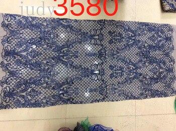 HX17# Dark blue plaid embroidered wedding dress shimmer for bridal wedding dress/sawing Free shipping