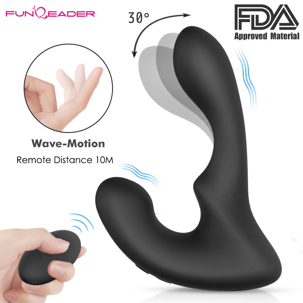 Remote Control Prostata Massage Anal Butt Plug Beads Penis Ring Anal Sex Toys For Men G