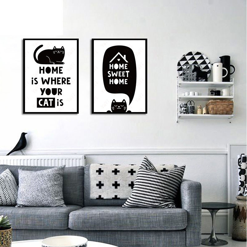 Bedroom Art Supplies: HAOCHU House Office DIY Painting Cartoon Black White