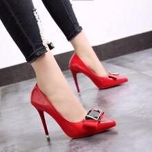 b86e774d 2018 nuevos zapatos de mujer con zapatos de boca baja zapatos de tacón alto  de Europa y de los Estados Unidos señaló negro profe.