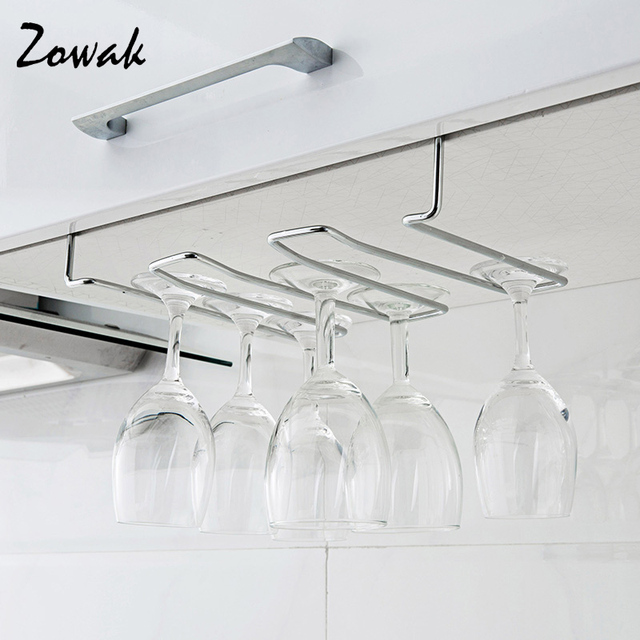 Rack Hook Stemware Glass Rack Wine Glass Hanger Under Cabinet